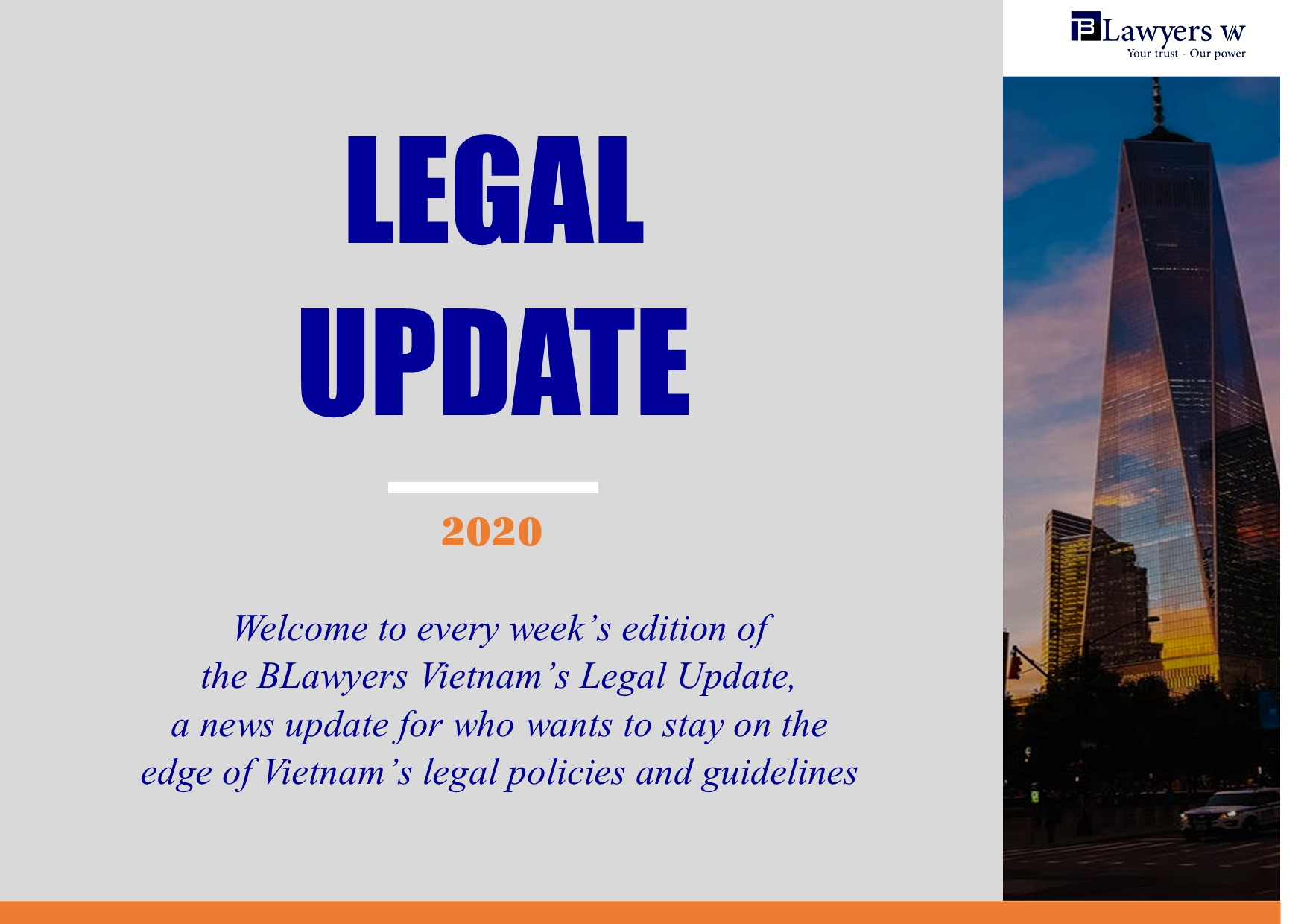 Legal updates of BLawyers Vietnam