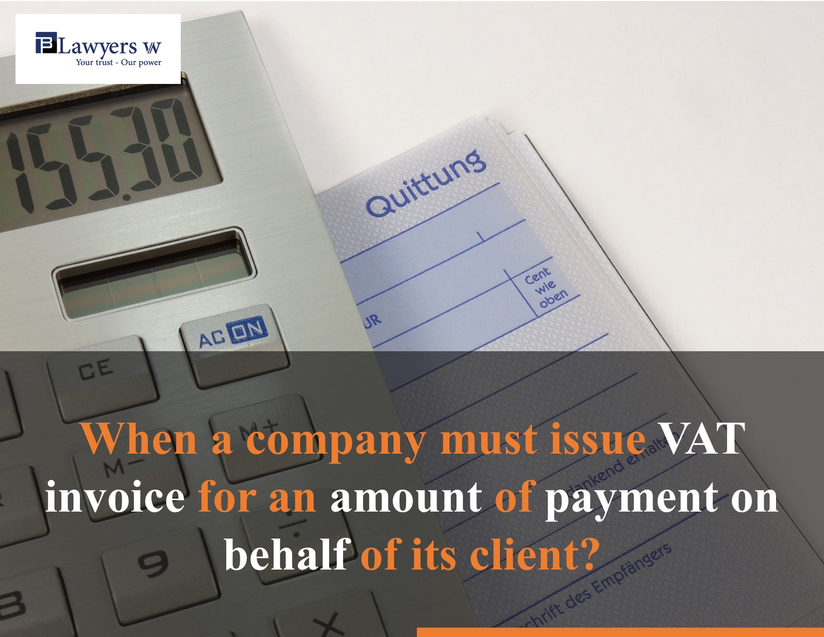 When a company must issue invoice for an amount for payment on behalf of another company