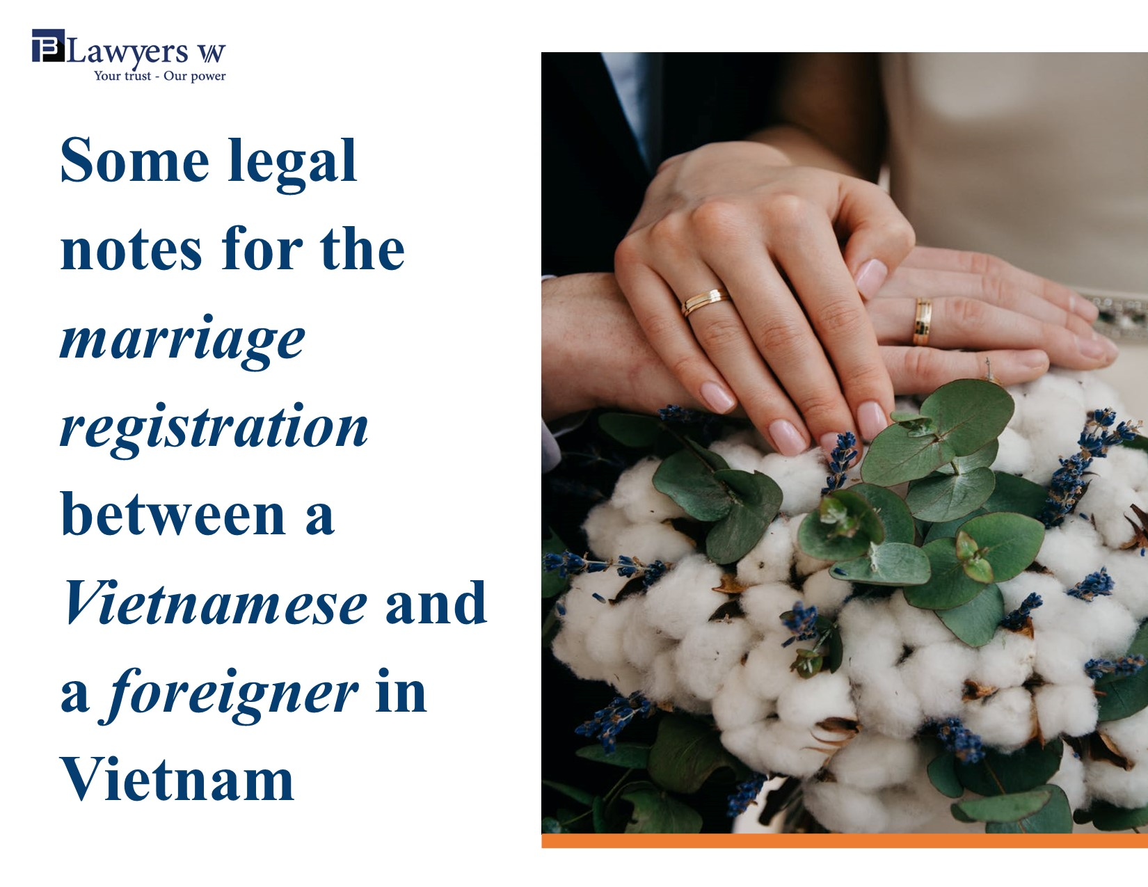 Notes for marriage registration between Vietnamese and foreigner