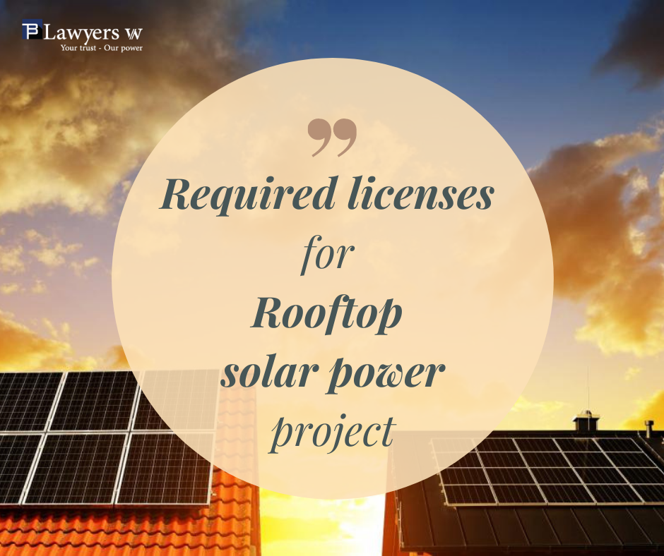 Required licenses for rooftop solar power projects