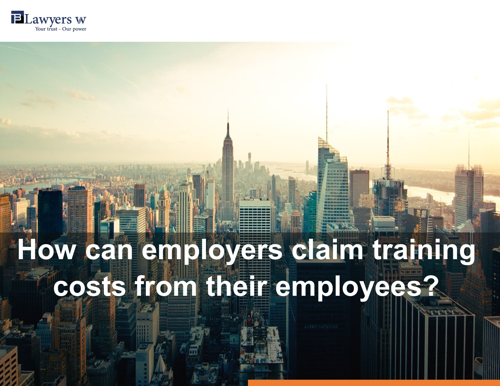 How can employers claim training costs from their employees?